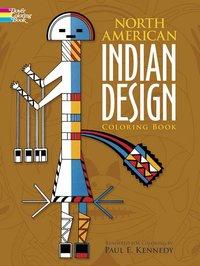 Coloring Book North American Indian Design