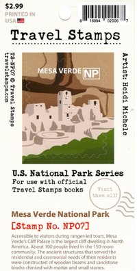Sticker Travel Stamp Mesa Verde
