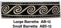 Barrette Scrolls with Border