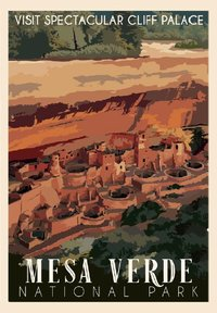Poster Cliff Palace Retro Ranger