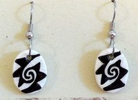 Earrings Oval Spiral