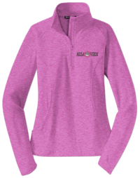 Ladies Single Pot Logo Jacket Heather Pink