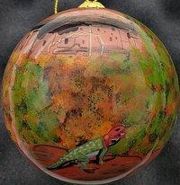 Ornament Mesa Verde Hand Painted