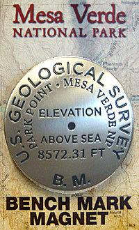 Magnet Bench Mark Park Point