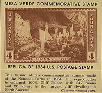 Mesa Verde Commemorative Stamp 1934