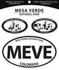Sticker Mesa Verde 3 Ovals