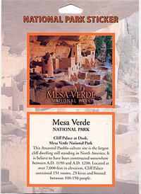 Sticker Mesa Verde Passport