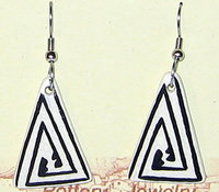 Earrings Opposing Triangle