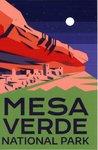 Sticker Mesa Verde Night Sky