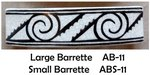 Barrette Interlocking Scrolls