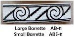 Barrette Interlocking Scrolls