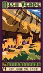 Sticker Cliff Palace Art